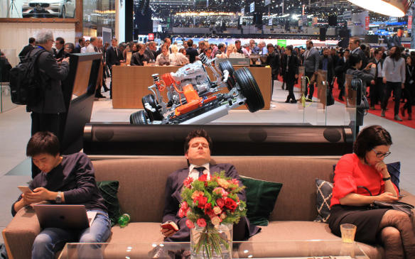 <p>Phew! All these cars and we've barely even scratched the surface. This guy has the right idea. Time for a break before getting back to the 2018 Geneva International Motor Show. See you there!</p>