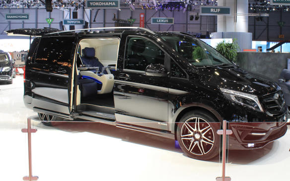 "<p>Actually, they'd probably rather be in this Mercedes-Benz V250 van, converted by the Klassen company of Germany with seating and upholstery taken from Maybach. ""Let us inspire you and discover individually developed premium vehicles that leave nothing to be desired,"" says Klassen.</p>"