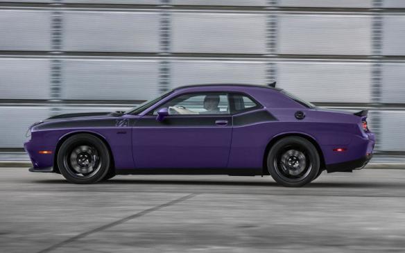 <p>2018 Dodge Challenger in Plum Crazy</p>