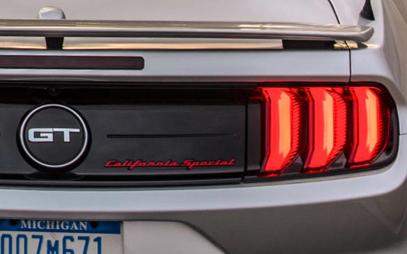 <p>2019 Ford Mustang GT California Special script badge</p>