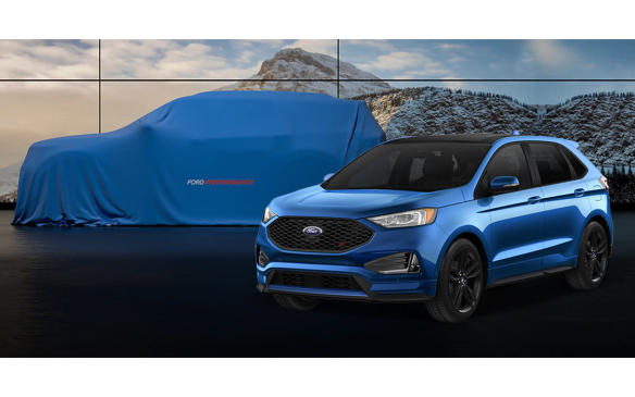 <p>Ford Explorer ST with unnamed performance SUV</p>