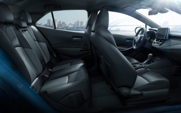 <p>2019 Toyota Corolla Hatchback seating</p>