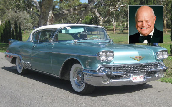 """<p>Don Rickles made a career out of insulting his audience, an act he calls """"a form of psychiatry."""" Together with Frank Sinatra and the Rat Pack, Rickles helped make an entertainment Mecca out of Las Vegas, so that made him a perfect complement to the 1958 Cadillac Eldorado Seville, a car Jerry called """"the mobile version of Las Vegas,"""" but one that in the late 1950s showed passers-by that the driver was at the top of whatever game you played. But perhaps the best description is that it's """"a car as thrilled with itself as you are."""" (Credit: Wikimedia Commons/GTHO)</p>"""