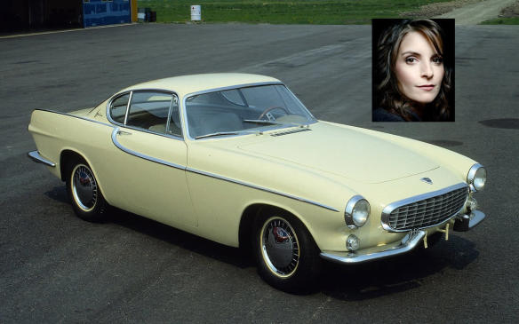 """<p>Probably best known as a co-star of Roger Moore in The Saint television series, the Volvo 1800 arose out of Volvo's desire to market a sporty car, but it almost didn't happen. Volvo talked to Kharmann about producing the car (from a Volvo internal design) but at the 11th hour in negotiations, Volkswagen reportedly objected due to the P1800 being to similar to cars Kharmann was making for VW. Volvo abandoned the project but later reconsidered and got English-maker Jensen Motors to produce the first couple model years before moving production to Sweden. The 1800 was thoroughly Volvo, meaning it had all the longevity and safety expected from the marque, but in fun bodystyle, something Jerry says reminds him of Tina Fey (one of the hardest working and career-driven women in comedy) — """"It's sensible but fun.""""</p>"""