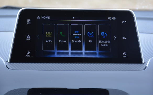 <p>A 7-inch touchscreen sits atop the dash, similar to what Mazda offers. It can be controlled by a touchpad controller situated to the right of the gear shift. Navigation as well as other apps can be found via Apple CarPlay and Android Auto that come standard across the board. Connecting your mobile device is the only way to receive navigation.</p>