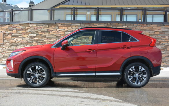 <p>Yes, we hear these terms bold and spirited countless times. In the case of the Eclipse Cross, it showcases edgy design cuts not common with current and past Mitsubishi products. A sloping roofline up front, a deep expressive cut down the body, and a split-window hatchback combine to create a sharp coupe-like design that stands out from the crowd.</p>