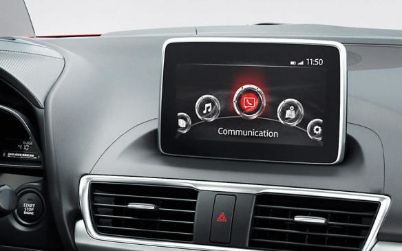 <p>Mazda Connect infotainment screen</p>