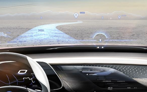 <p>Buick Enspire concept head-up display</p>