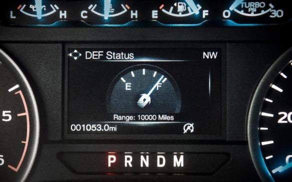 <p>2018 Ford F-150 diesel gauge cluster display</p>