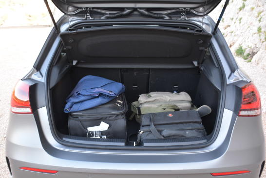 <p>Its wheelbase has increased allowing for more legroom, but it also increases luggage capacity. The A-Class has ample length and width, resulting in 370 litres of cargo space. The rear seats can also be lowered for more space, but an exact total-volume figure was not disclosed.</p>