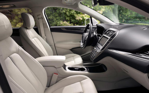 <p>Lincoln wanted the MKC cabin to be quiet, warm and inviting, fitting it with plush, soft-to-the-touch materials and including standard Wi-Fi, putting USB ports throughout and making heated and cooled seats available.</p>