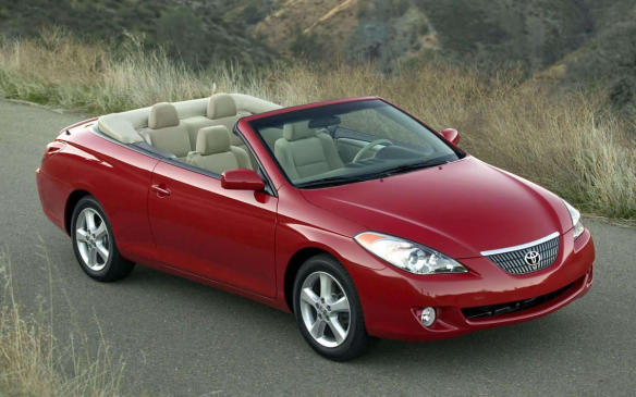 <p>With a name like Solara, a ragtop was a foregone conclusion when the Toyota Camry coupe was unveiled. But unlike the first-generation model that required a roof-o-dectomy during assembly, the second-gen Solara was designed as a convertible from the ground up with enough inbuilt rigidity to make it a solid ride. Unlike most of our esteemed vehicles listed here, the Solara's rear-seat room is generous as is the car's capacity to coddle its passengers. The soft top was fully lined, power-operated and featured a large heated glass rear window.</p>