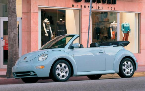 <p>Remember the excitement when Volkswagen re-introduced the New Beetle in 1998? Some lost their minds. The paint colours! Beetlemania subsided soon enough, though some are still taken by the nostalgia-steeped design. The droptop finally arrived for 2003, featuring a power-folding cloth top, a rollover protection system and a 6-speed automatic transmission. Recommended are the 2006 to 2010 models, however, and for good reason: the car got a styling refresh inside and out, and VW migrated the Jetta's 150-hp 2.5-litre 5-cylinder engine to the New Beetle, replacing all the other engines that were offered previously.</p> <p></p>