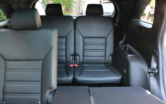 <p>The second-row seating has plenty of headroom and legroom for its occupants including rear climate ventilation at most trims. Like most third rows, the Sorento's can be fairly snug and more suitable for smaller children.</p>