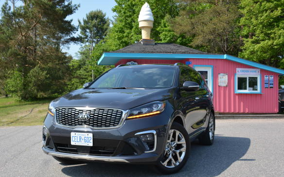 <p>The 2019 Kia Sorento starts at $27,995 and $34,795 for the version with the V-6 and all-wheel drive. There are many different price ranges to choose from, but it's hard to beat LX V-6 that comes with a plethora of standard features and a 3-row seating setup. The top-trims can get pricey at $44,865 (SX) and $48,865 (SXL).</p>
