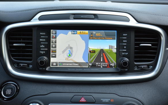 <p>Most of the advanced Kia Sorento safety features are found in the SXL trim, which now includes Lane Keeping Assist, Driver Attention Alert, Forward Collision-Avoidance Assist and a 360-degree-around-view camera. At EX, consumers will receive Blind Spot Detection and Rear Cross Traffic Alert.</p>