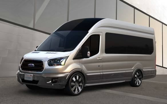 "<p><strong>Galpin Auto Sports Transit Skyliner</strong><br />Transit Skyliner, created jointly by Ford and Galpin Auto Sports of Van Nuys, California, embodies the spirit of premium motor coaches and builds on the heritage of custom vans. The custom vehicle shows how Ford Transit can be transformed to fit the needs of limousines and high-end transportation services, as well as commercial fleets, shuttle providers and small-business owners. Transit Skyliner features custom-designed ""throne"" seats that are controlled by a smartphone or tablet.</p> <p>Premium features of the Galpin Auto Sports Transit Skyliner include:<br />> 52-inch retractable movie screen<br />> Focal Utopia 7.2 surround sound with custom-made speakers<br />> Satellite TVKaleidescape media server<br />> Integrated bar<br />> Matching luggage</p>"