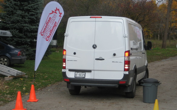 <p>Each van was tested on how efficiently it could be backed down a curving laneway to a loading dock – how good was the visibility for the driver; was the vehicle equipped with a backup camera and did it function effectively? How tight was the turning radius? Was it easy to manoeuvre in the tight spaces van drivers encounter every day?</p>