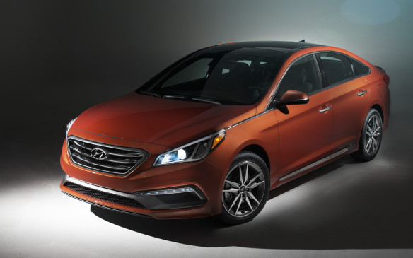 <p>Best New Family Car >$30K - 2015 Hyundai Sonata</p> <p>The 2015 Hyundai Sonata won the Best New Family Car >$30K award, beating out the Subaru WRX and Toyota Camry Hybrid</p>