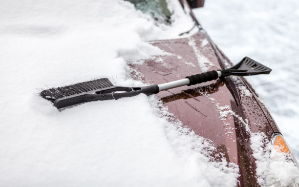 <ol> <li><strong>1. Windshield scraper and snow brush - </strong></li> <li></li> </ol> <p>A long-handled ice scraper with a soft-bristled brush will ease the challenge of keeping windows clear and free of ice and snow. Don't forget to clear the lights and mirrors as well.</p>