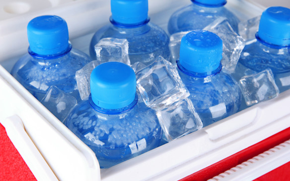 <ol> <li><strong>3. Water -</strong></li> <li></li> <li>In the event you get stranded it's important to keep hydrated. Plastic bottles make it easy to keep water on-board and they won't break if the water freezes.</li> </ol>