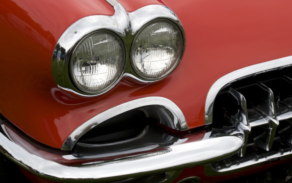 <p><strong>QUAD SEALED BEAMS - </strong>Some of that styling freedom returned by the late 1950s, when regulations changed in many jurisdictions to permit the use of four smaller, 5.75-inch-diameter, sealed beams – two for both low and high beam operation and two for high beams only. That changeover began in 1957 and was universal by 1958. There was even greater styling freedom in Europe and many other countries, however, where sealed beams were not mandatory and more aesthetic headlamp lens shapes were allowed.</p>