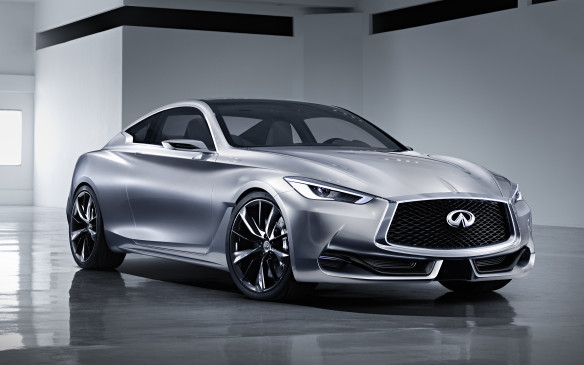 <p><strong>Infiniti Q60 Concept (Canadian debut) –</strong> Compared with the larger Q80 Inspiration Concept, the Q60 Concept isn't nearly as far-out a proposition. Designed to be the expected two-door version of the Q50 sedan, the Q60 is only a set of exterior door handles and mirrors away from hitting the show-room floor. Power will come from the same twin-turbocharged V-6 engine as the Q80, but minus the hybrid system.</p>