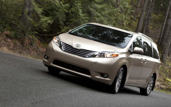 <p><strong>2011-13 Toyota Sienna</strong></p> <p>The Sienna was powered by a 266-hp 3.5-L V-6 or a surprisingly capable 187-hp 2.7-L inline four cylinder – which was dropped for 2013. The Sienna drives much better than previous models, thanks to communicative steering and a tuned suspension that no longer wallows in the corners. Road noise remains muted, although the big van doesn't seem as well insulated. As a family conveyance, minivans take a lot of abuse by design, yet the Sienna has the mettle to deliver years of flawless service thanks to its bulletproof engine and transmission.</p>