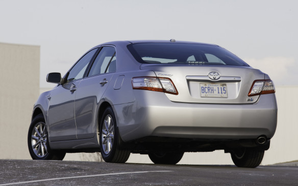 <p><strong>2007-11 Toyota Camry Hybrid</strong></p> <p>Its 2.4-L DOHC four-cylinder engine worked through a continuously variable (CVT) automatic transmission in concert with an electric motor. Tuned for economy, the Atkinson-cycle gas engine made 147 hp, while the AC motor churned out another 40 horses for 187 hp in total. With a balloon foot, the Hybrid could attain 50 km/h on electric power alone. Owners report an average 41 mpg (6.9 L/100 km) in mixed driving, but less in frigid weather. A fixture in the taxi industry, the Camry Hybrid is a remarkably reliable ride that has dispelled hybrid angst.</p>