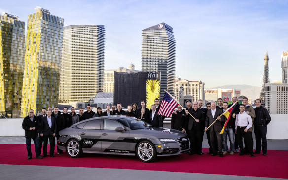 <p>However, Audi trumped nearly everyone by having an A7 Sportback research vehicle drive itself the 800 kilometres from near San Francisco, CA to CES in Las Vegas, NV. While there was at least one human backup driver behind the steering wheel, the whole time, it was an impressive accomplishment nonetheless.</p>