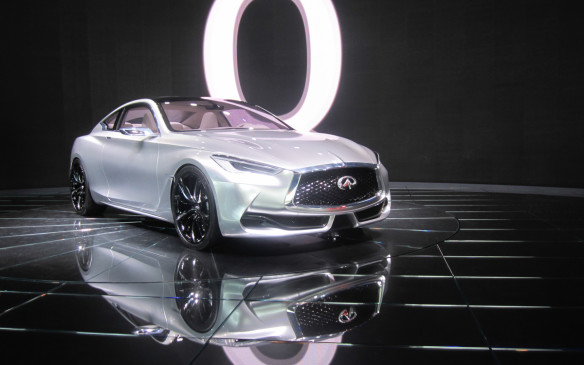 <p><strong>Infiniti Q60 Concept</strong></p> <p>Infiniti revealed its Q60 Concept, which is a sleeker two-door version of its Q50 sedan, albeit with some interesting alterations. Visual highlights include white-and-blue front lighting, including the grille surround and Infiniti badge. Big 21-inch black-and-chrome wheels dominate the curvaceous wheel-wells, and there's a built-in trunk-lid spoiler and interesting exhaust surrounds. The Q60 Concept also uses the new 3.0-litre twin-turbocharged V-6 that 'debuted' in the Q80 Concept in LA, but there's no word on expected horsepower or transmission choices. Judging from previous efforts, this won't change much once it officially goes in production.</p>