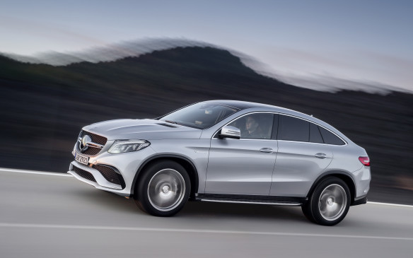 <p><strong>2016 Mercedes-AMG GLE63 S Coupe/GLE 450 AMG Coupe</strong></p> <p>Mercedes-Benz' new GLE Coupe Class is the company's take on BMW's angular X6, and was shown in several different guises at the show. Besides the plug-in hybrid version to be unveiled later this year, there's the GLE 450 AMG Coupe, which uses the same 3.0-litre twin-turbo V-6 as other recent 'Benz models only with 362 horsepower and 384 lb-ft of torque. Combined with a nine-speed automatic, that pushes the 450 AMG to highway speed in around five seconds. The full-bore AMG GLE63 S Coupe gets a twin-turbo 5.5-litre V-8 with 585 horses, seven-speed automatic transmission, 4MATIC all-wheel drive and plenty of added attitude inside and out.</p>
