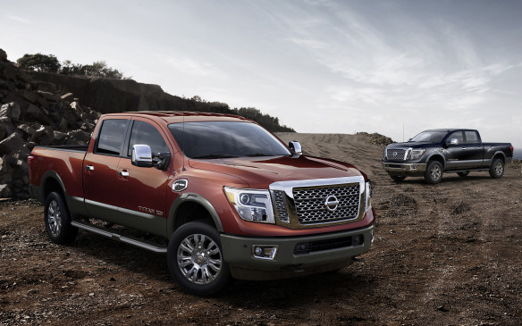 <p><strong>2016 Nissan Titan XD</strong></p> <p>It feels like North America has been waiting eons for Nissan to redesign its full-size Titan pickup. Almost a dozen years have passed since the Titan first broke cover, with very few changes in the meantime. The 2016 Titan aims to change all that, with a ground-up redesign that includes three cab configurations, two bed lengths, and several trim levels. Nissan has never shied away from controversial designs, and the Titan follows that trend. Crucially, it also gets a choice of three engines. While details on the new gasoline V6 and V8 will be shared later, the biggest news comes from the Cummins-built turbodiesel V8. At 5.0 litres, it packs 310 horsepower and 555 lb-ft of torque, mated to a six-speed automatic transmission, and properly equipped gives over 5,450 kg of conventional towing and over 900 kg of payload.</p>