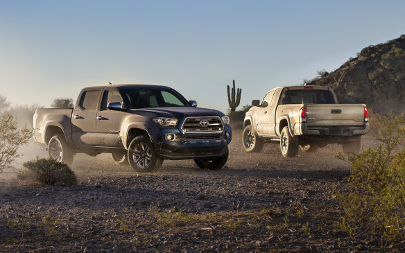 "<p><strong>2016 Toyota Tacoma</strong></p> <p>Despite its relative age, the Toyota Tacoma has continually been top on Canadians' popularity list. So the timing should be near-perfect for its next generation of mid-size pickup. The exterior styling offers larger wheel flares and higher beltline than before, a ""clamp-shaped"" front bumper and available LED running lights highlight the front. A new locking tailgate with an integrated rear spoiler add to the functional upgrades. Power will come from a carryover 2.7-litre four-cylinder and new direct-injection 3.5-litre V-6, and rear-or four-wheel drive available. Bizarrely, a six-speed manual is available on the V-6, while six-speed automatics cover the every other combination. There will be five trim levels available, including a new lux-themed Limited grade.</p>"