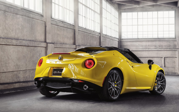 <p><strong>2016 Alfa Romeo 4C Spider</strong></p> <p>One of the most desirable pocket supercars around gets a version better suited to sunnier climes. The Alfa Romeo 4C already delivers a carbon-fibre-intensive body and aluminum chassis that's ridiculously strong and light, so providing one without a fixed roof certainly isn't a stretch. The 4C Spider will offer either a stowable cloth roof, or optionally a removable carbon-fibre hardtop. Other changes include different wheels, and an available Akrapovic 'dual-mode' exhaust system with centrally-mounted tips and carbon-fibre surrounds will give plenty of Italian character to the carryover turbocharged 237-horsepower 1.7-litre engine.</p>