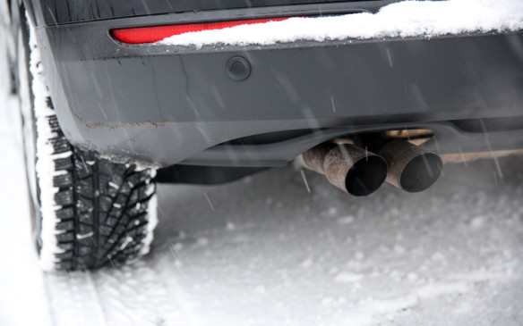 <p>If the tailpipe become blocked by snow or ice the exhaust gasses may find another way out – and into the passenger compartment with deadly results. While today;s engine exhaust is much cleaner that it used to be, it is still toxic in sufficient quantity. For that reason, never back into a snow bank. For the same reason never warm up a vehicle in an enclosed garage.</p>