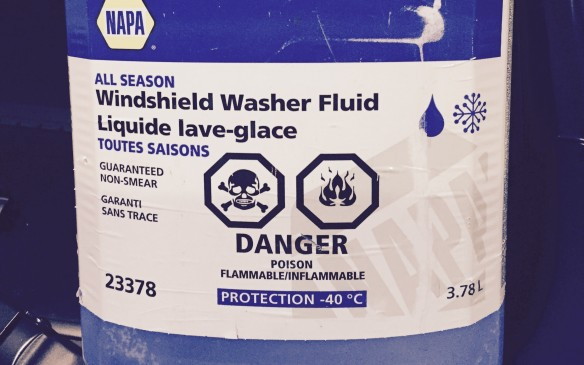 <p>Use fluid especially formulated for severe winter conditions, rated for -40C or below. Keep the reservoir topped up and a spare jug inside. Chances are you'll never run out at an opportune time to get more.</p>