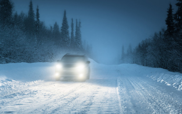 <p>Make sure they are all the lights are operating properly and are cleared of snow and ice so you are able both to see and be seen when visibility conditions are reduced.</p>