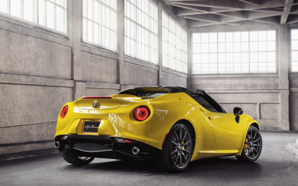 <p><strong>SPORTS CARS & CONVERTIBLES: </strong><strong>Alfa Romeo 4C</strong> – After a two-decade sabbatical, Alfa Romeo is back in North America with just a single model, but what an Italian beauty it is. Initially it appeared only in coupe form but an open-top Spider model was introduced at the 2015 Detroit auto show. It's powered by a mid-mounted 237-hp turbocharged four-cylinder engine that's capable of accelerating from 0-to-100 km/h in less than five seconds.</p>