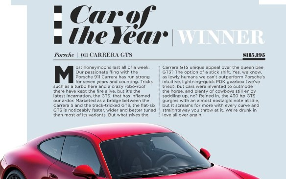 <p>Playboy 2015 Car of the Year - Courtesy of Playboy magazine</p>