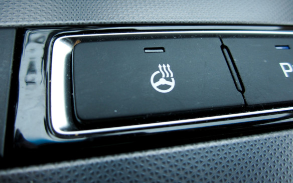 <p>Not only will a heated steering wheel heat up quickly on those ugly cold mornings, it will let you take your gloves or mitts off sooner. You can't really drive with optimum safety when wearing heavy mitts or gloves so a heated wheel is the answer.</p>