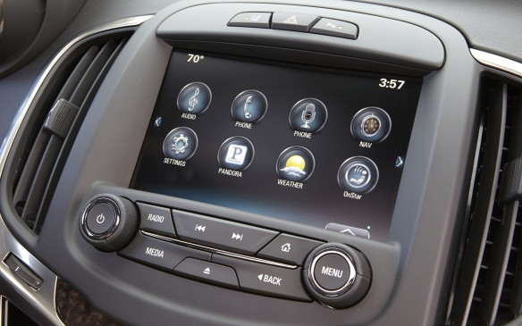 <p>The biggest problem comes from the sometimes busy layout, especially when scrolling through the XM radio stations. And in some older models – like the Buick Lacrosse – the screen is physically set too far back leaving a long reach to use and obscuring the corners from view.</p>