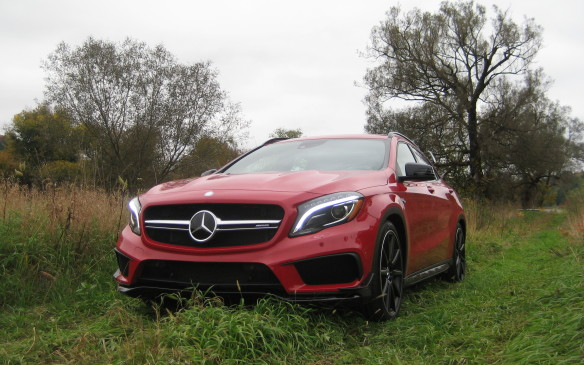 <p>The GLA 4MATIC, which starts at $37,200 for the GLA 250 and $50,500 for the GLA 45 AMG, may appear to be intended strictly for road use, but it is capable of mild off-road challenges. Don't expect it to do robust rock climbing, but it certainly can handle off-road trails such as one might encounter en route to the cottage. There's an on/off-road package that offers enhanced off-road performance at the touch of a button. It activates a display on the central screen indicating the selected driving mode, activation of the downhill speed regulation system, steering angle (in degrees), longitudinal inclination (in percent) and transverse inclination (in degrees.) A small compass is also displayed. In a brief off-road trip down a rural pathway, the GLA 4MATIC proved more than capable. </p>