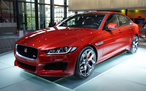 <p>Jaguar's all-new XE sedan had its global premiere earlier in London but Paris was its first auto show appearance. The all-aluminum compact luxury car is intended to compete directly with the likes of BMW's 3 Series and Mercedes-Benz's C-Class. The most aerodynamic of all Jaguar sedans, it will be powered by the brand's new range of 'Ingenium' four-cylinder engines and feature Jaguar's InControl information and entertainment system, centred on an 8-inch touchscreen interface. Unfortunately, the XE is not scheduled to arrive on the North American market until calendar year 2016.</p>