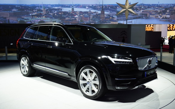 "<p>Volvo's all-new XC90, which was revealed earlier in Stockholm, made its public debut in Paris. Intended to compete with the likes of the Acura MDX, Audi Q5 and BMW X5, it's the first vehicle to be built on Volvo's all-new Scalable Platform Architecture (SPA), which is also expected to underpin the next generations of S60, V70, XC60 and S80. A range of Volvo's new 2.0-litre, four-cylinder Drive-E engines, both gasoline and diesel, will be offered globally. The top-of-the-line powertrain, called Twin Engine, combines a supercharged and turbocharged gasoline engine with an electric motor to generate ""around 400 horsepower."" The XC90 is scheduled to go on sale in North America early in 2015.</p>"