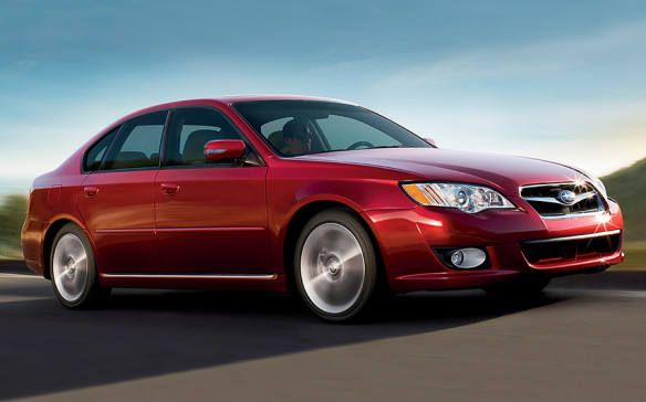 """<p>2007-09 Subaru Legacy and Outback</p> <p>Subie owners have long delighted in the Legacy's standard go-anywhere all-wheel drive, its balanced drivetrain and general quirkiness. Ditto the Outback wagon, arguably North America's first crossover, a car with sport-utility DNA. Subarus truly are different, thanks to their devotion to the horizontally opposed """"boxer"""" engine that lies low, employs a shorter crankshaft and accommodates equal-length driveshafts. Manual-transmission models used an AWD viscous-coupling locking centre differential that split power 50/50 front and rear, while automatics got a planetary centre diff and a variable hydraulic transfer clutch.</p>"""
