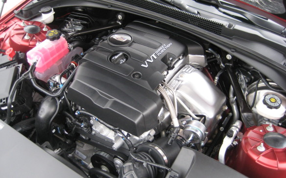 <p>In keeping with its sportier flavor, the ATS coupe doesn't offer the sedan's base engine, the 202-horsepower, 2.5-litre four-cylinder. Instead, the powertrain choices start with the turbocharged 2.0-litre four. This 16-valve, direct fuel-injected aluminum block/cylinder head four-banger churns out a very potent 272 horsepower and 296 lb-ft of torque that will launch the coupe to 96 km/h in just 5.6 seconds. GM does recommend this engine be fed premium-grade fuel, but it will run on regular gas, albeit with a bit of a penalty in performance. It can be paired with either a fully synchronized six-speed Tremec manual gearbox with overdrive or an electronically controlled six-speed automatic transmission. </p>