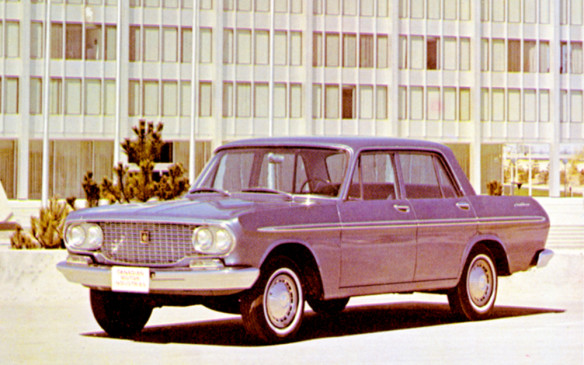 <p>Toyota began selling cars in Canada in 1964 through a distributor called Canadian Motor Industries (CMI). The first Toyota vehicles to be sold back then, as 1965 models, were the Corona, Crown (1968 model shown), Land Cruiser and 700UP10. CMI set up offices in offices initially in Ontario, Quebec and British Columbia. Only 755 vehicles were sold that first year – less than a day's production at one of Toyota's Canadian plants today.</p>