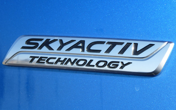 <p>Mazda CX-3 Skyactiv badge</p>
