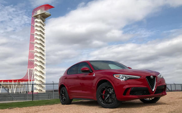 <p>2018 Alfa Romeo Stelvio Quadrifoglio at Circuit of the Americas</p>